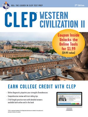 CLEP Western Civilization II with Online Practice Exams by