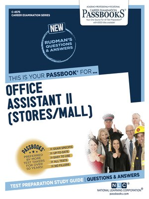 cover image of Office Assistant II (Stores/Mail)