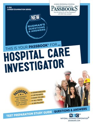cover image of Hospital Care Investigator