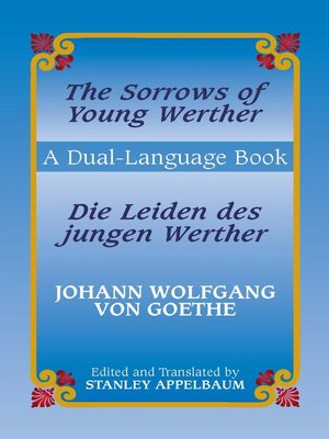 cover image of The Sorrows of Young Werther/Die Leiden des jungen Werther