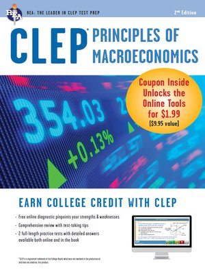 cover image of CLEP Principles of Macroeconomics with Online Practice Exams