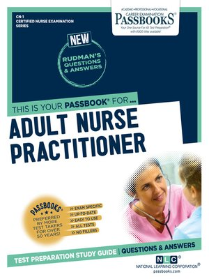 cover image of ADULT NURSE PRACTITIONER