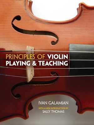 cover image of Principles of Violin Playing and Teaching