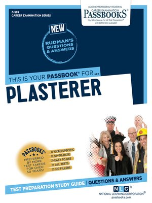 cover image of Plasterer