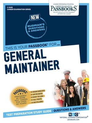 cover image of General Maintainer