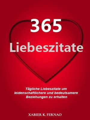cover image of 365 Liebeszitate