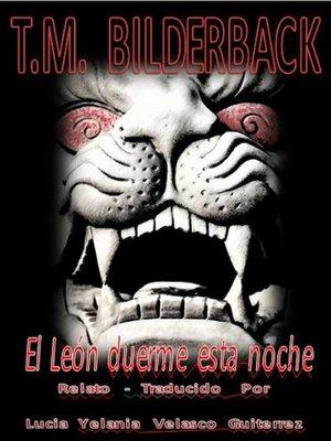 cover image of El León duerme esta noche