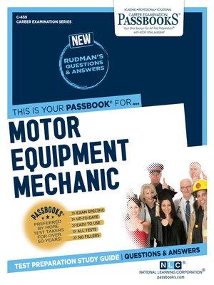 cover image of Motor Equipment Mechanic
