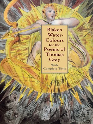 cover image of Blake's Water-Colours for the Poems of Thomas Gray