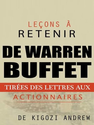 cover image of Leçons à retenir des lettres aux actionnaires de Warren Buffet