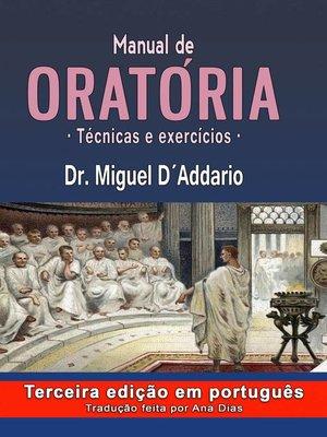 cover image of Manual de oratória