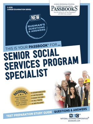 cover image of Senior Social Services Program Specialist