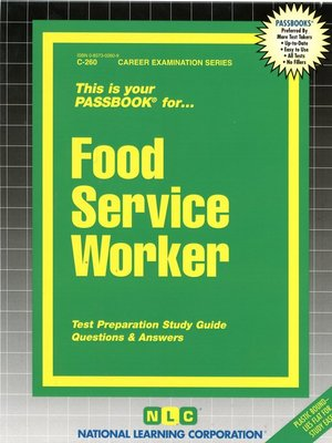 cover image of Food Service Worker