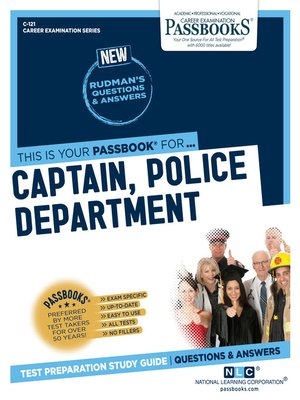 cover image of Captain, Police Department