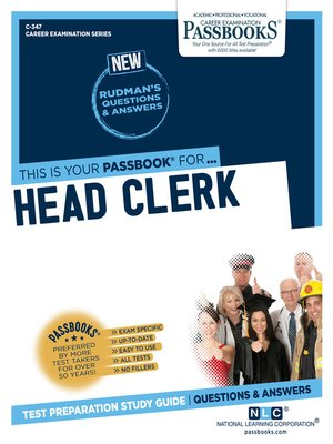 cover image of Head Clerk
