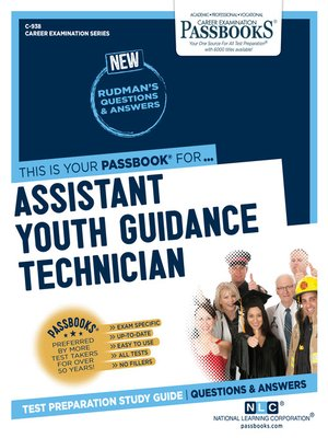 cover image of Assistant Youth Guidance Technician