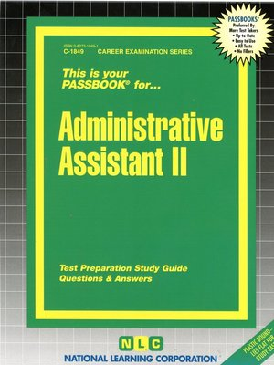 cover image of Administrative Assistant II