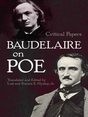 cover image of Baudelaire on Poe