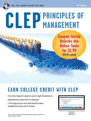 cover image of CLEP Principles of Management with Online Practice Exams