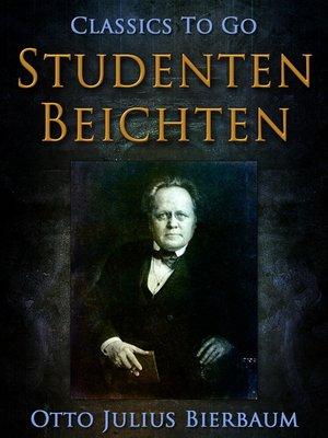 cover image of Studentenbeichten