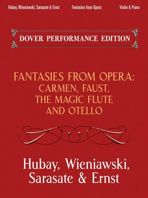 cover image of Fantasies from Opera for Violin and Piano