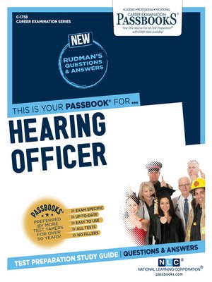 cover image of Hearing Officer