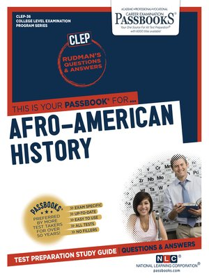 cover image of AFRO-AMERICAN HISTORY