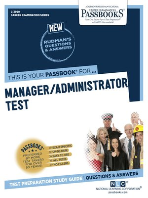 cover image of Manager/Administrator Test
