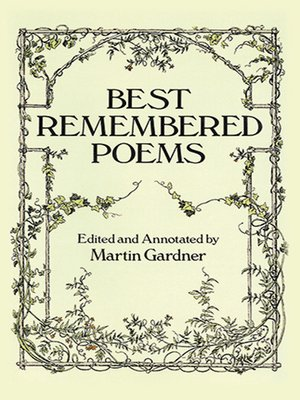 cover image of Best Remembered Poems
