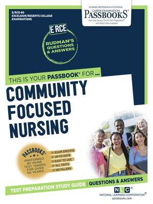 cover image of Community Focused Nursing