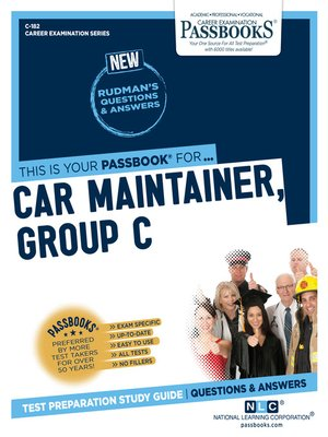 cover image of Car Maintainer, Group C