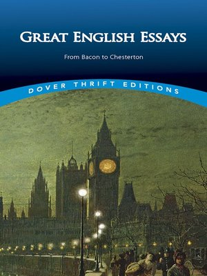 cover image of Great English Essays
