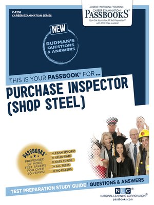 cover image of Purchase Inspector (Shop Steel)