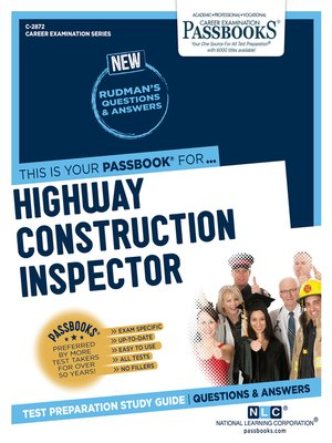 cover image of Highway Construction Inspector