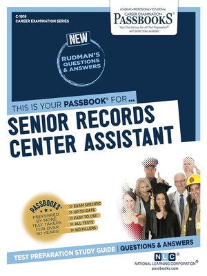 cover image of Senior Records Center Assistant