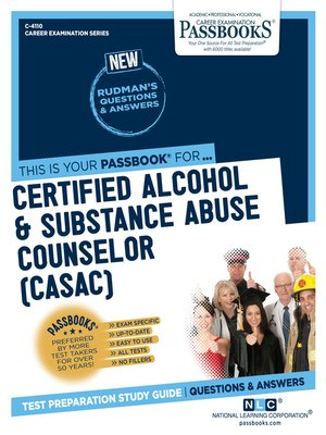 cover image of Certified Alcohol & Substance Abuse Counselor (CASAC)