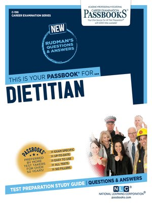 cover image of Dietitian