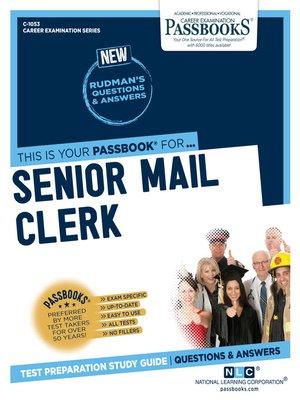 cover image of Senior Mail Clerk