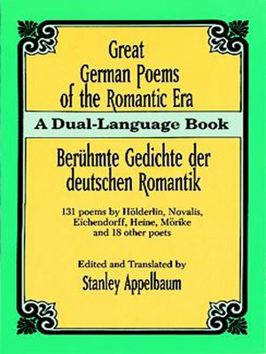 cover image of Great German Poems of the Romantic Era