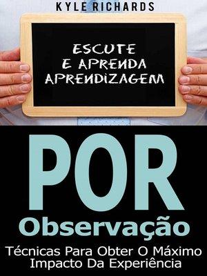 cover image of Aprendizagem Por Observação