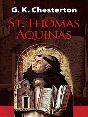 cover image of St. Thomas Aquinas