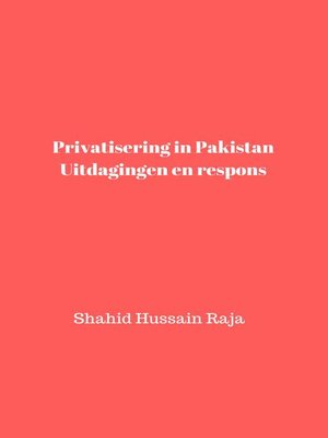 cover image of Privatisering in Pakistan