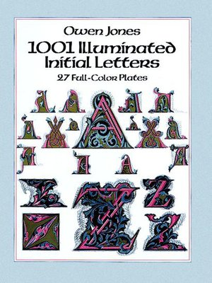 cover image of 1001 Illuminated Initial Letters