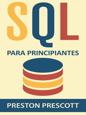 cover image of SQL para Principiantes