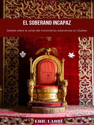 cover image of El soberano incapaz
