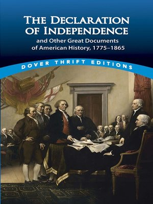 cover image of The Declaration of Independence and Other Great Documents of American History