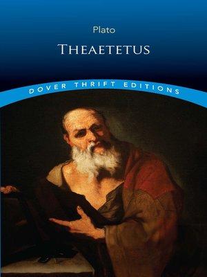 cover image of Theaetetus