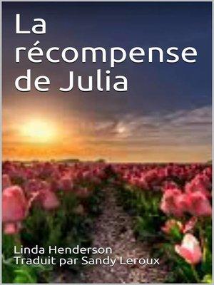 cover image of La récompense de Julia