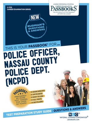 cover image of Police Officer, Nassau County Police Department (NCPD)