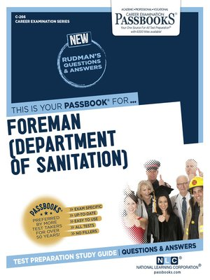 cover image of Foreman (Department of Sanitation)
